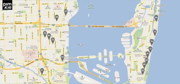 mapa miami por pimkie