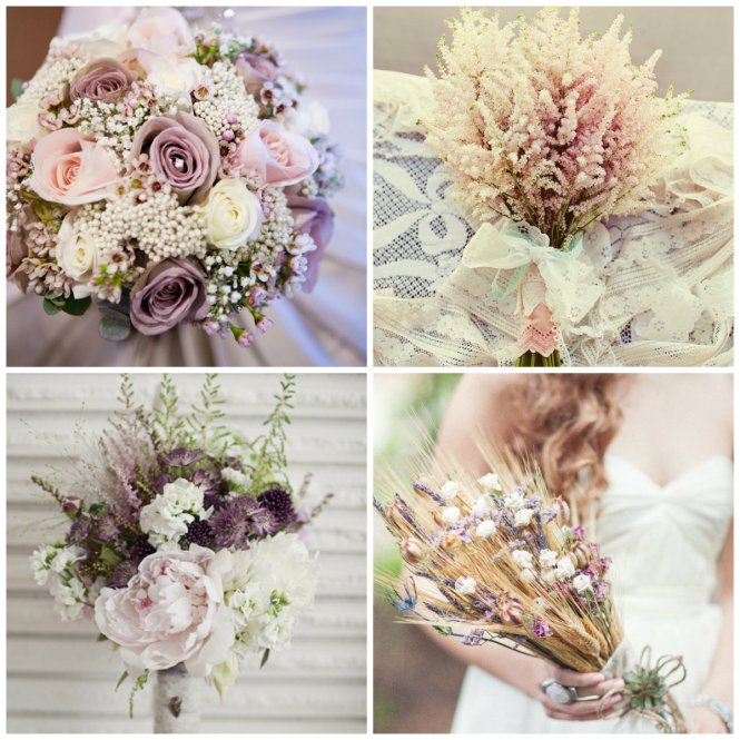bouquet lilas, rosa claro e branco