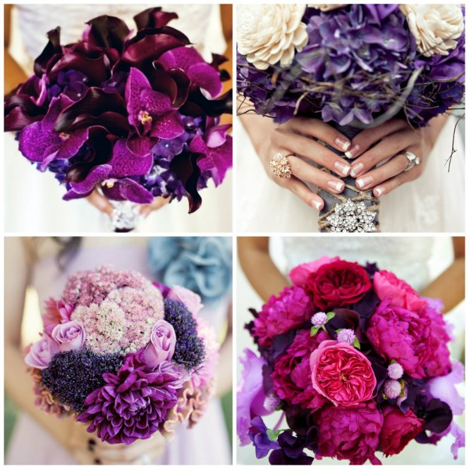 bouquet roxo
