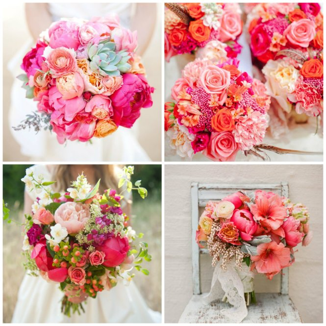 bouquet tons de rosa