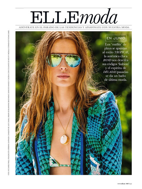Elle Spain June 2013 Elena Baguci