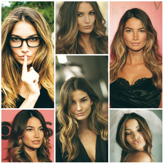 Lily Aldridge Ombré Hair