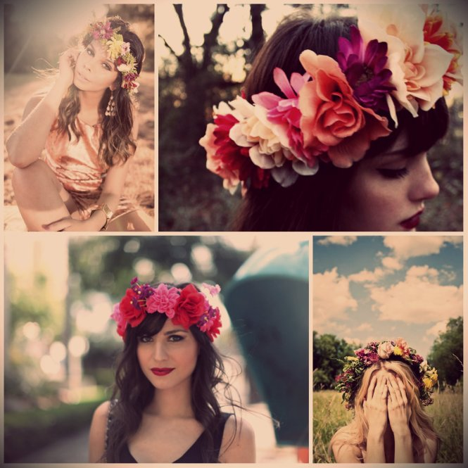 Flower Headband Flores coroa tiara