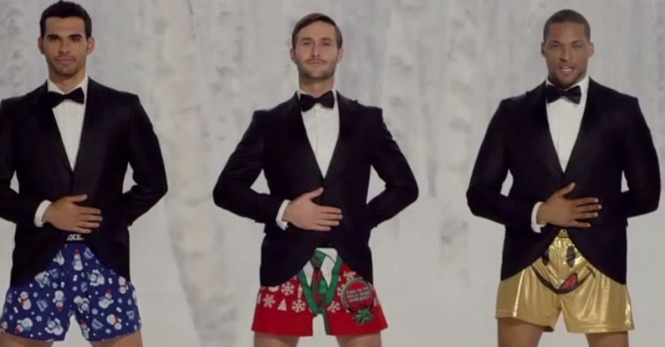 Kmart's 'Jingle Bells' Ad Has Legs Joe Boxer Cuecas Divertidas
